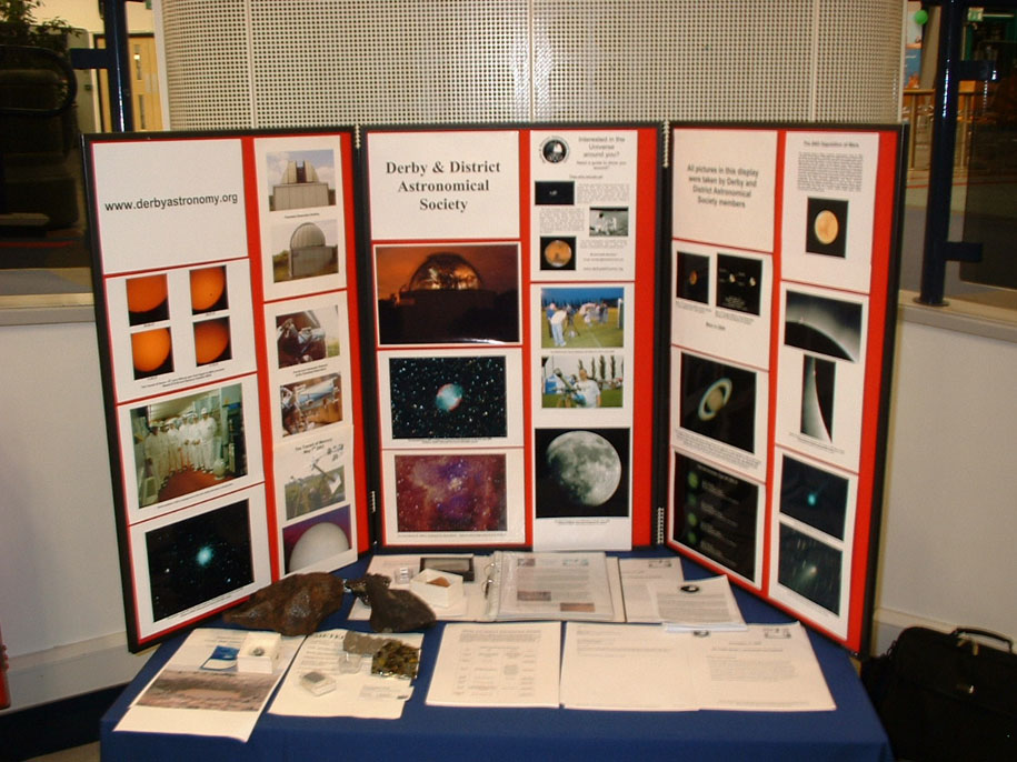 DDAS display at 2008 Flamsteed Lecture. Photo by Anthony Southwell.